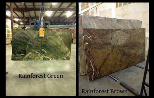 Rainforest Green Amp Brown Granite Countertop Chattanooga