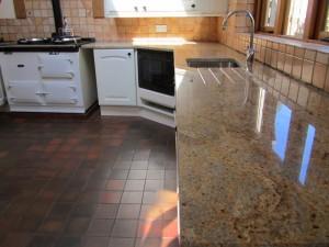 Gold Granite Kitchen