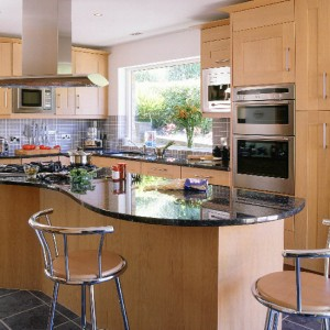 High Quality Blue Granite Kitchen