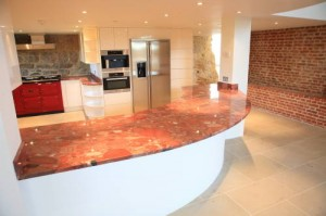 Red Color Granite Countertops