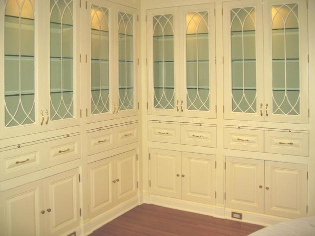 Replacing your outdated cabinet doors with glass doors for Add glass to kitchen cabinets