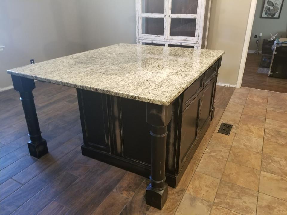 Amazing And Huge Kitchen Island Granite Countertop